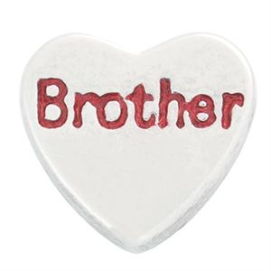 Picture of 'Brother' Heart Charm